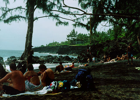 Black Sand Beach, Big Island of Hawaii,  pele, goddess, earth mysteries, dolphin, kilauea